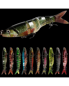 13.5CM/20G-Jointed-Swimbait-With-Tow-Treble-Hooks