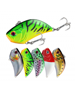 55MM/14G Blade Bait With Two Treble Hooks Can Be Used In The Whole Swimming Layer