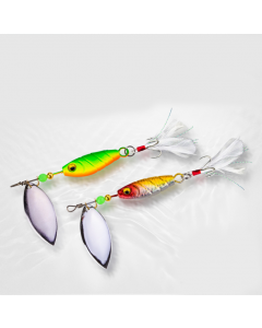 Rooster-Tail-Lure-With-Treble-Hook-And-Spinner-Blades