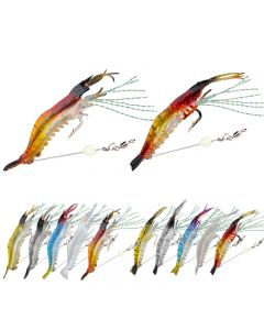 Soft shrimp with sharp hooks that can be used in salt water and fresh water