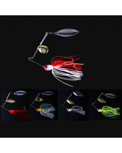 Swim-Jig-With-Fish-Shaped-Lead-Hook-And-Two-Rotating-Bladed